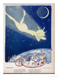 Halley's Comet Soars Over Denmark Giclee Print by Axel Nygaard