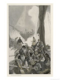 Battle of Lake Champlain Giclee Print by Henry Reuterdahl