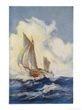 The Boat Which Joshua Slocum Rebuilt and Sailed Single- Handed Round the World 1895-1896 Giclee Print by Maurice Randall