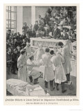 Vienna Professor Billroth Performs an Operation Watched by Students and Colleagues Giclee Print by U.f. Seligmann