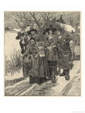 An Old Woman is Arrested as a Witch Giclee Print by Howard Pyle