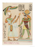 Worshipped by the Pharaoh Ramses IV Giclee Print by S. Pollaroli