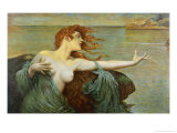 The Siren Sings Her Song Luring Sailors to Destruction Giclee Print by Leopold Schmutzler