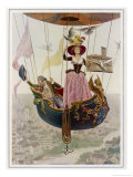 The First Manned Flight in a Gas Balloon Over Paris Giclee Print by Maurice Leloir