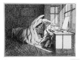 The Thing in Parkins's Hotel Room Premium Giclee Print by James Mcbryde
