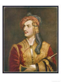 George Gordon Lord Byron English Poet Depicted Here in His Costume as a Greek Patriot Giclee Print by T. Phillips