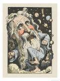 God Surrounded by Stars and Planets Giclee Print by  Moloch