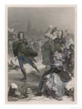Johann Goethe Goethe Ice-Skating in Frankfurt Germany Giclee Print by J.l. Raab