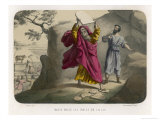 Moses Breaks the Tables of the Law on Which the Ten Commandments are Inscribed Giclee Print by Auguste Leloir