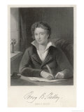 Percy Bysshe Shelley English Romantic Poet Giclee Print by William Holl the Younger
