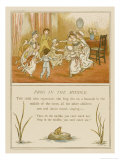Children Playing Frog in the Middle, They Form a Ring Around One Child Giclee Print by Kate Greenaway