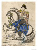 Napoleon Bonaparte I on His Horse Giclee Print by M.s. Kett
