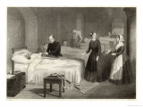 In Scutari Florence Nightingale Assists While a Doctor Puts a Splint on a Patient's Arm Giclee Print by  Greatbach
