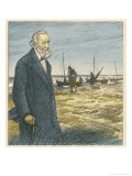 Theodor Storm German Writer Giclee Print by Wilhelm Schulz
