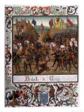 At Crecy 9000 English Soldiers Under Edward III Defeat 30000 French Under Philippe VI Giclee Print by Ronjat