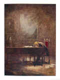 Frederic Chopin Polish Musician Composing His C Minor Etude Gicl&#233;e-Druck von Norman Price