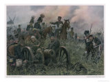Gneisenau at the Battle of Ligny Where Napoleon Defeats Blucher's Prussians Premium Giclee Print by R Knoetel