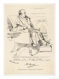 Isaac Disraeli Scholar Father of Benjamin Disraeli Giclee Print by Daniel Maclise
