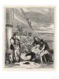 "The Crew of the ""Bounty"" Led by Fletcher Christian Seize Captain Bligh Giclee Print by  Phiz"