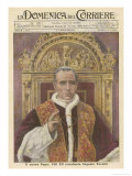 Pope Pius XII (Eugenio Pacelli) Newly Installed in 1939 Giclee Print by  Munollo