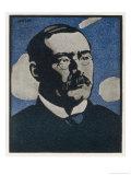 Rudyard Kipling Writer Giclee Print by Joseph Simpson
