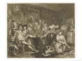 Tavern Scene Illustration to the Rakes Progress Giclee Print by William Hogarth
