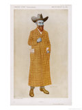 George Bernard Shaw British Playwright and Critic in a Long Check Coat Giclee Print by Alick P.f. Ritchie