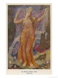 Ishtar, The Babylonian Goddess of Fertility and Love Gicleetryck av Evelyn Paul
