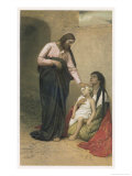 Jesus Depicted as a Healer Premium Giclee Print by Gabriel Max