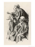 Britain a Barrister in Court is Carried Away by His Feelings to the Astonishment of His Colleagues Giclee Print by Edward Tennyson Reed