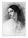 Virginia Poe Wife of Edgar Allan Poe Died of Tuberculosis Giclee Print by G.g. Learned