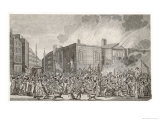 The Gordon Riots the Burning Plundering and Destruction of Newgate Giclee Print by H. Roberts