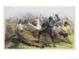 He Fights the Muleteers, and is Soundly Beaten Giclee Print by Edmond Morin