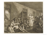 Scene in Bedlam Asylum Giclée-Druck von William Hogarth
