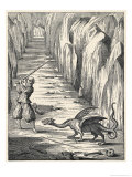 Dragon from the Caves of Mount Pilatus Switzerland Giclee Print by Athanasius Kircher