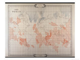 Map of Lemuria at Its Greatest Extent Giclee Print by W. Scott-elliot