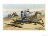 He is Finally Beaten by His Friend Sanson Carasco Giclee Print by Edmond Morin