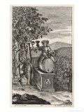 Tending the Vines While Bacchus Presides Over the Activities Giclee Print by Michael van der Gucht