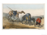 After Being Beaten by the Muleteers He is Taken Home by Sancho Panza Giclee Print by Edmond Morin