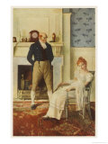 Becky Sharp and Lord Steyne Giclee Print by Howard Pyle
