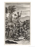 Country Folk Celebrate a Festival in Honour of the God of Wine: Bacchus Giclee Print by Michael van der Gucht