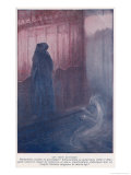 Demonic Entity Appears to Trouble the Soul of a Medieval Monk Giclee Print by S. Macchiatti