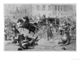 Tsar Alexander II is Assassinated by Nihilists at St. Petersburg Giclee Print by Henri Meyer