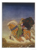 Tristram Carries Isolde Away to be His Uncle's Wife Giclee Print by  Mackenzie
