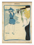 Short Swimming Costume Attracts Attention on the Beach Giclee Print by Roubille
