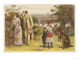 Australians Celebrate Christmas at the Height of Summer with a Picnic Giclee Print by G.c. Kilburne