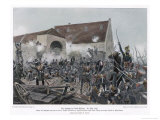 The Fighting at la Haye-Sainte Giclee Print by R Knoetel