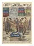 When the Dalai Lama Dies a Baby Boy Born Giclee Print by Aldo Molinari