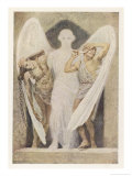 Guardian Angel Protects the Tired and the Disabled Giclee Print by Frank C. Pape