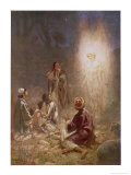 The Angel of the Lord Announces the Arrival of Jesus to the Shepherds Premium Giclee Print by William Hole